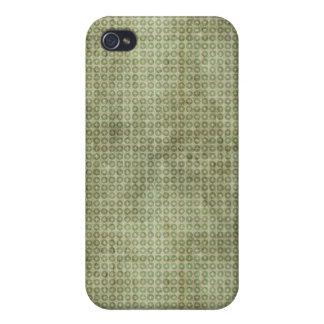 Cruz verde en caso del iPhone 4 del círculo iPhone 4 Fundas