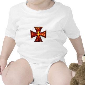 Cruz volcánica del hierro traje de bebé