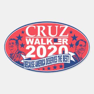 Cruz/Walker 2020 Oval Stickers, Glossy Oval Sticker
