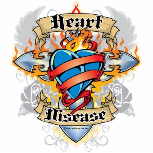 Cruz y corazón de la enfermedad cardíaca escultura fotográfica