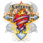 Cruz y corazón de la epilepsia escultura fotografica