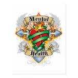 Cruz y corazón de la salud mental postal