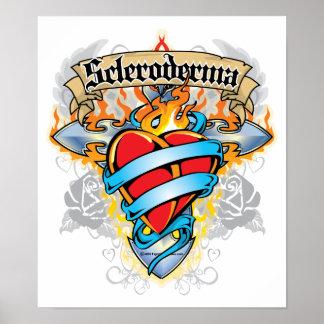 Cruz y corazón del escleroderma poster