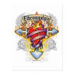 Cruz y corazón del Fibromyalgia Postal