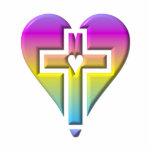 Cruz y corazones #5 (pastel tridimensional) esculturas fotográficas