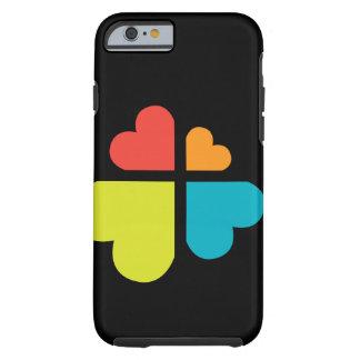 Cruz y corazones funda resistente iPhone 6