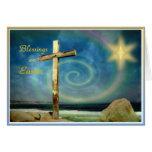 Cruz y estrella - Pascua feliz Tarjeton