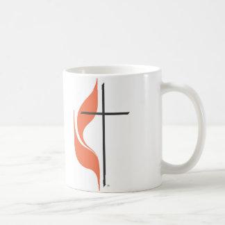 Cruz y llama ClearwaterUnited MethodistChurch Tazas De Café