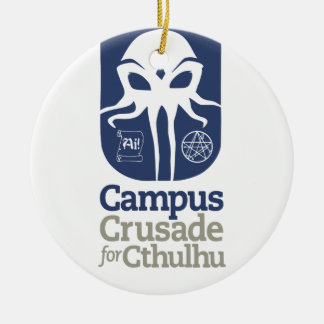 Cruzada del campus para Cthulu Adorno Redondo De Cerámica