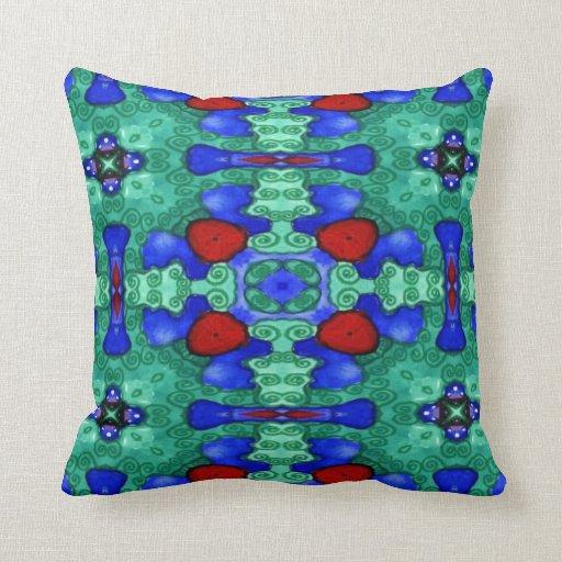 Cruzada verde almohada