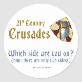 Cruzadas del siglo XXI Pegatina Redonda