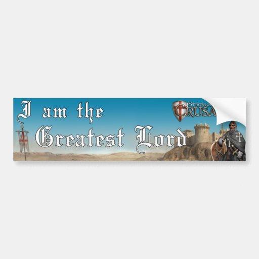 Cruzado de la ciudadela - el señor más grande 1 etiqueta de parachoque