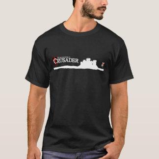 Cruzado de la ciudadela - logotipo - negro playera