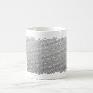 Cruzado de la frontera de la franja taza de café