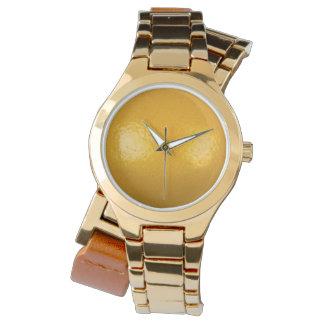 Cruzado del oro del limón relojes de mano
