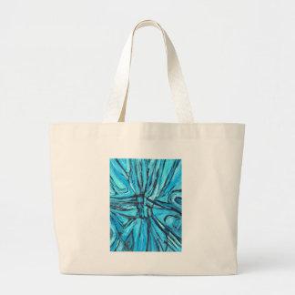 Cruzado enredada (expresionismo linear) bolsas lienzo