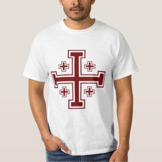 Cruzado papal de la cruz de Jerusalén Playera