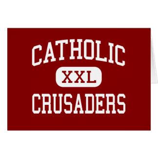 - Cruzados - alto católico - nuevo Iberia Luisiana Tarjeta De Felicitación