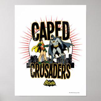 Cruzados de Caped gráficos Póster