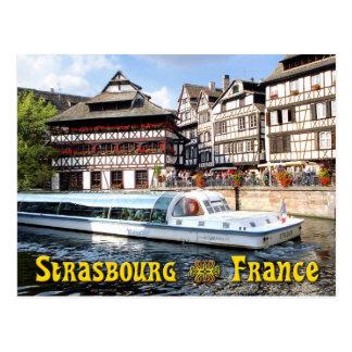 Cruzando en la enfermedad del río en Estrasburgo, Postales