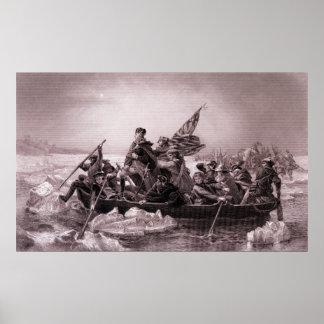 Cruzar el Delaware 1776 Posters