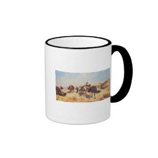 Cruzar el desierto taza de dos colores