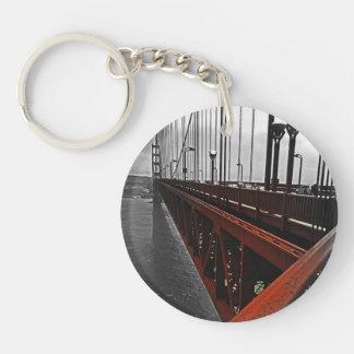 Cruzar el Golden Gate Llavero Redondo Acrílico A Doble Cara