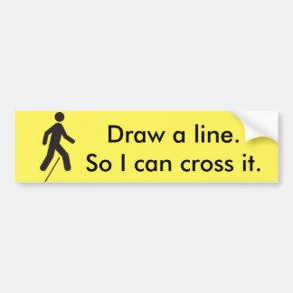Cruzar la línea pegatina para el parachoques pegatina para auto