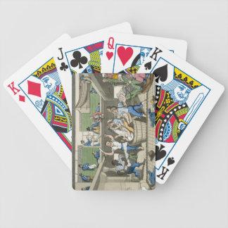 Cruzar la línea placa de las aventuras de J Baraja Cartas De Poker