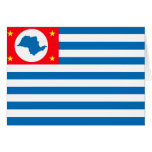 Cruzeiro Sao Paulo bandera del Brasil, el Brasil Tarjeta