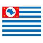 Cruzeiro Sao Paulo bandera del Brasil, el Brasil Tarjetas Postales