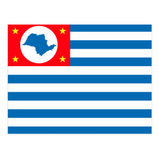Cruzeiro Saopaulo Brasil, Brazil flag Postcard