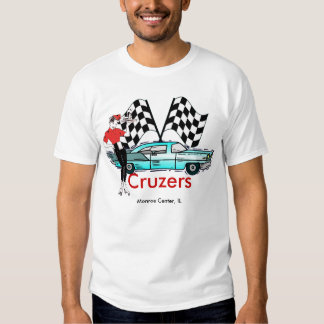 Cruzers Car and Flags T-Shirt