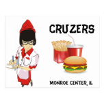 Cruzers Retro Waitress Post Card