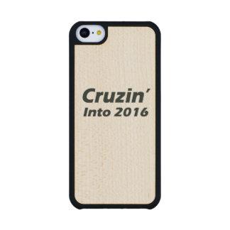 Cruzin en 2016 - blanco y negro funda de iPhone 5C slim arce