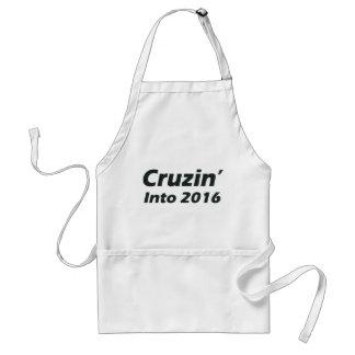 Cruzin' into 2016 - Black and White Adult Apron