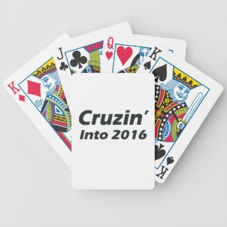 Cruzin' into 2016 - Black and White Bicycle Playing Cards