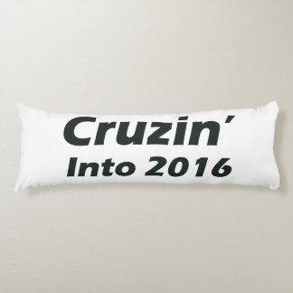Cruzin' into 2016 - Black and White Body Pillow