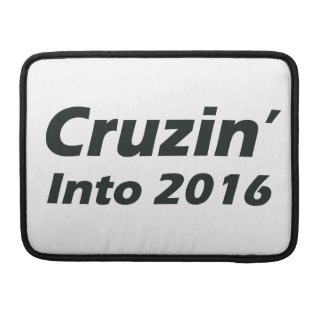 Cruzin' into 2016 - Black and White MacBook Pro Sleeve
