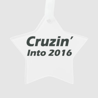Cruzin' into 2016 - Black and White Ornament