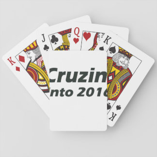 Cruzin' into 2016 - Black and White Playing Cards