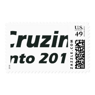 Cruzin' into 2016 - Black and White Postage Stamp