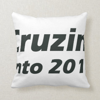 Cruzin' into 2016 - Black and White Throw Pillow