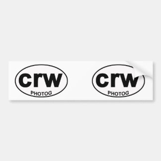 CRW Photog bumper sticker