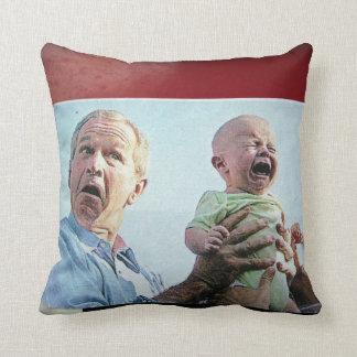 Cry Baby Bush Throw Pillow