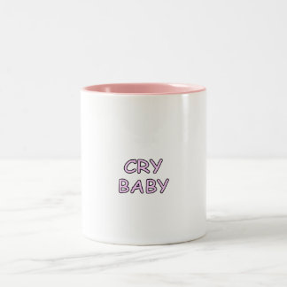 Cry Baby Pink Two-Tone Coffee Mug