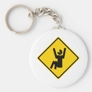 Cry Baby Road Sign Keychain