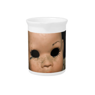 Cry Baby Vintage Doll Head Dirty Window Drink Pitcher