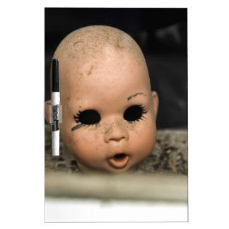 Cry Baby Vintage Doll Head Dirty Window Dry Erase Board