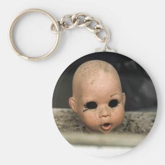 Cry Baby Vintage Doll Head Dirty Window Keychains